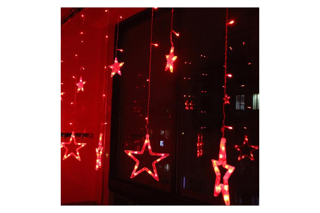 Christmas Lights Fairy Star LED Curtain String 5