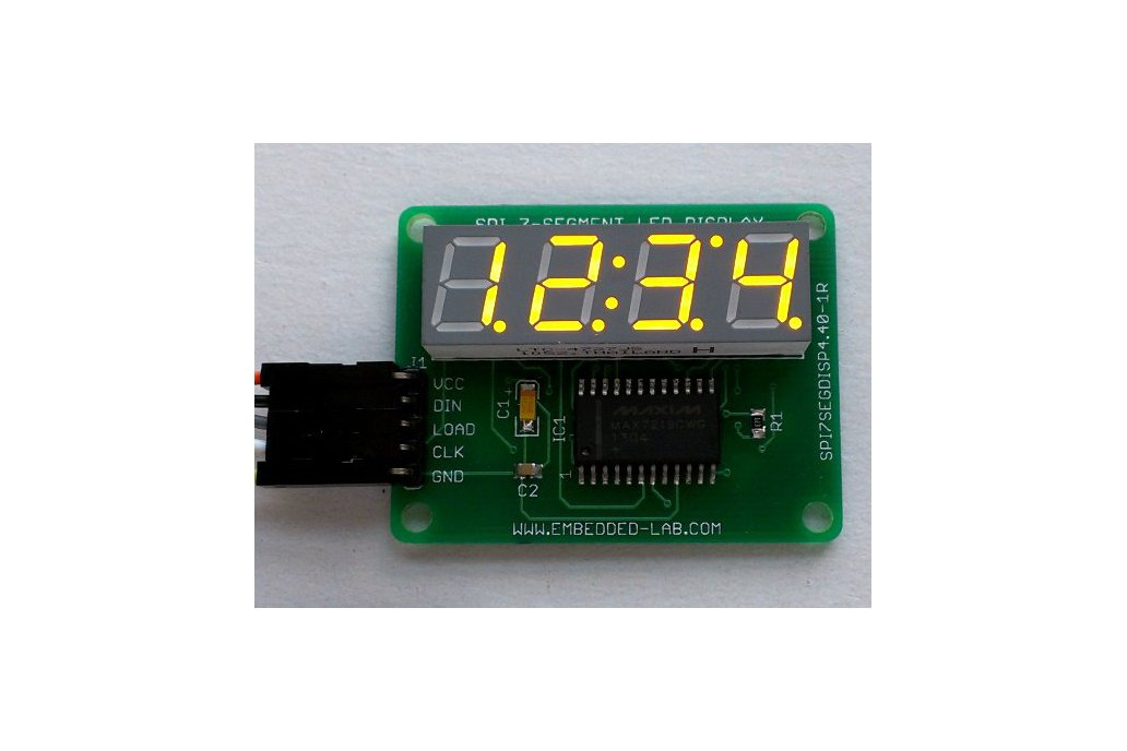 SPI 4-digit Seven Segment LED Display From Embedded Lab On