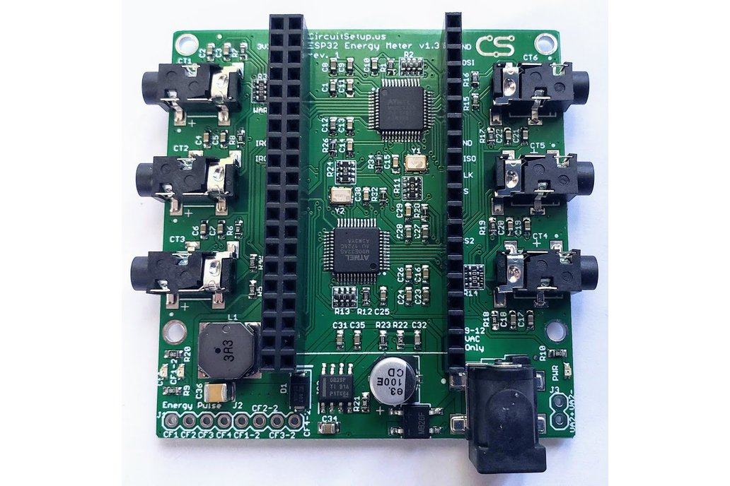Expandable 6 Channel ESP32 Energy Meter Main Board 1