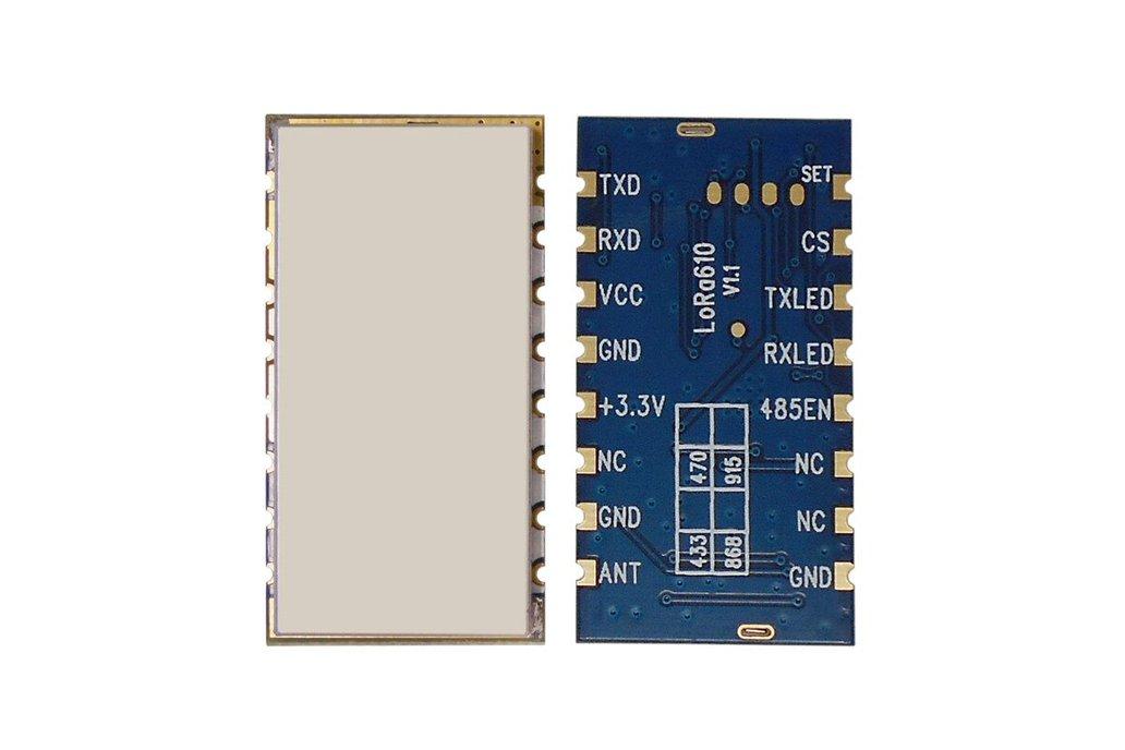 2pcs Lora610 433MHz TTL interface 100mW RF Module 1