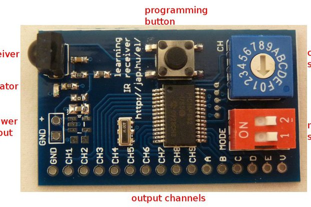 Learning infrared remote control receiver