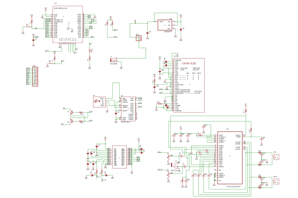 ESP32 web radio /audio BT receiver /w class-D amp 5