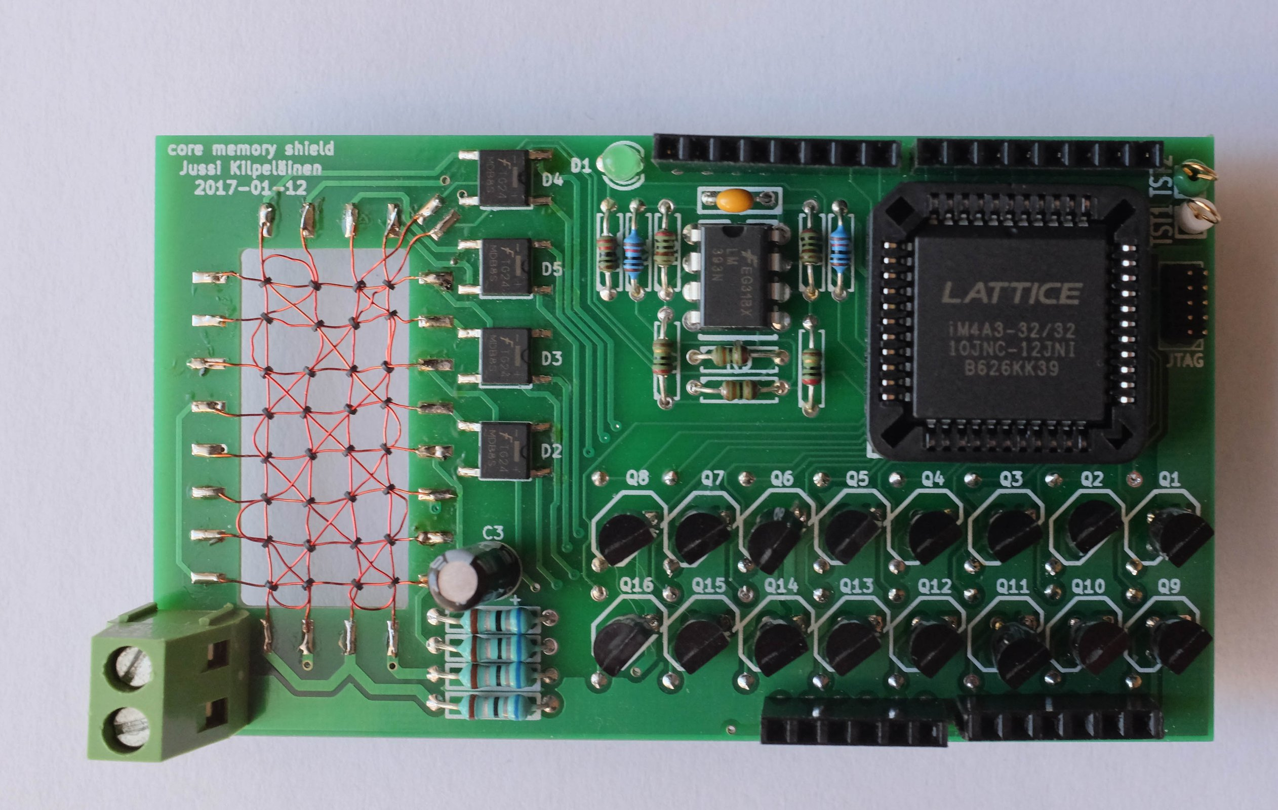 Core memory shield for arduino from jussi kilpelainen on
