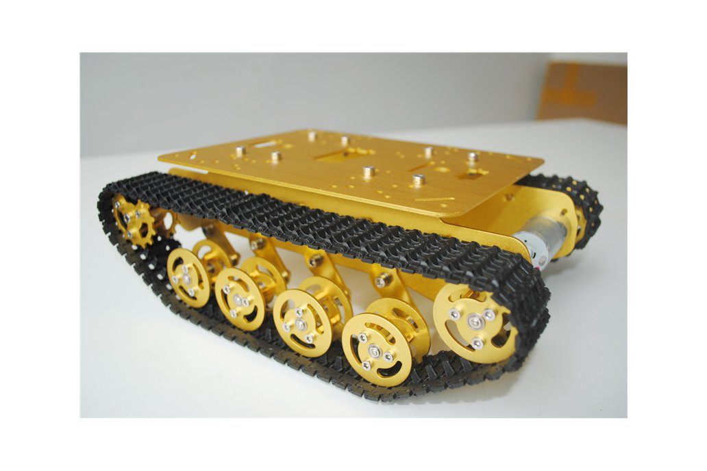 Metal Shock Absorption Robot Tracked Tank Car 7