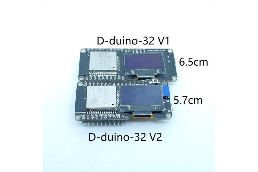 D-duino-32 V2.5(Arduino&Node32&ESP32&0.96OLED)