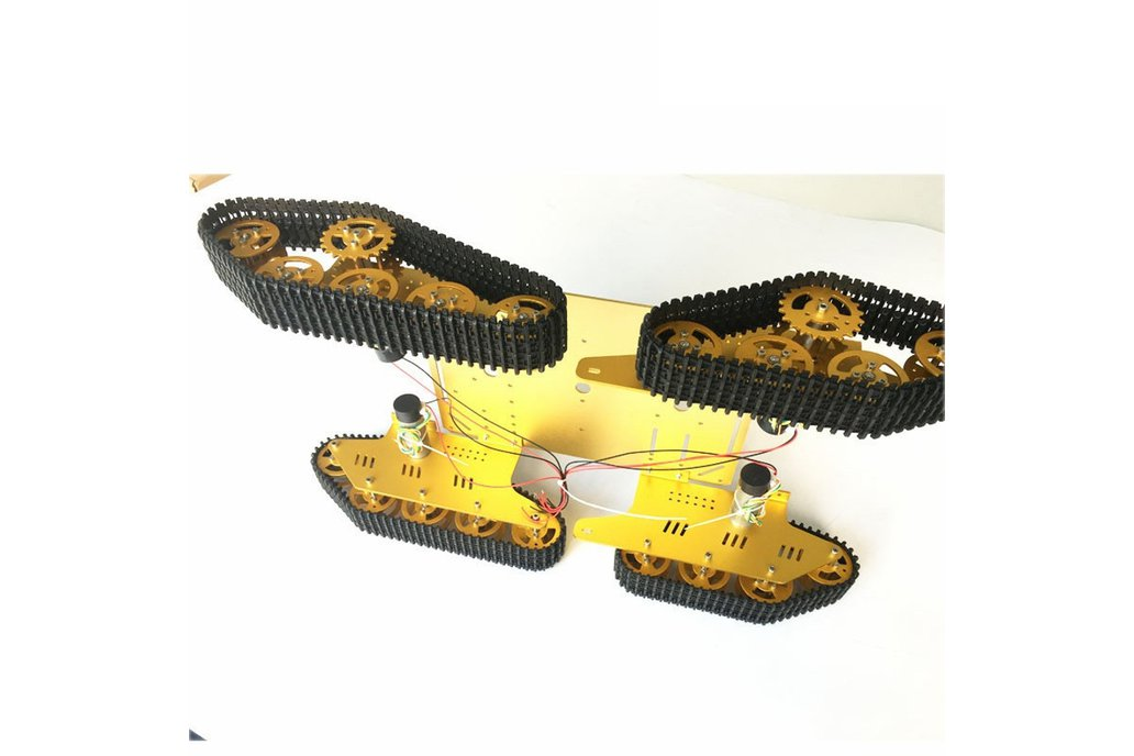 Arduino-compatible four wheels drive tank chassis 3