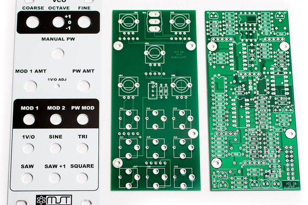 MST VCO-Voltage Controlled Oscillator PCB & Panel