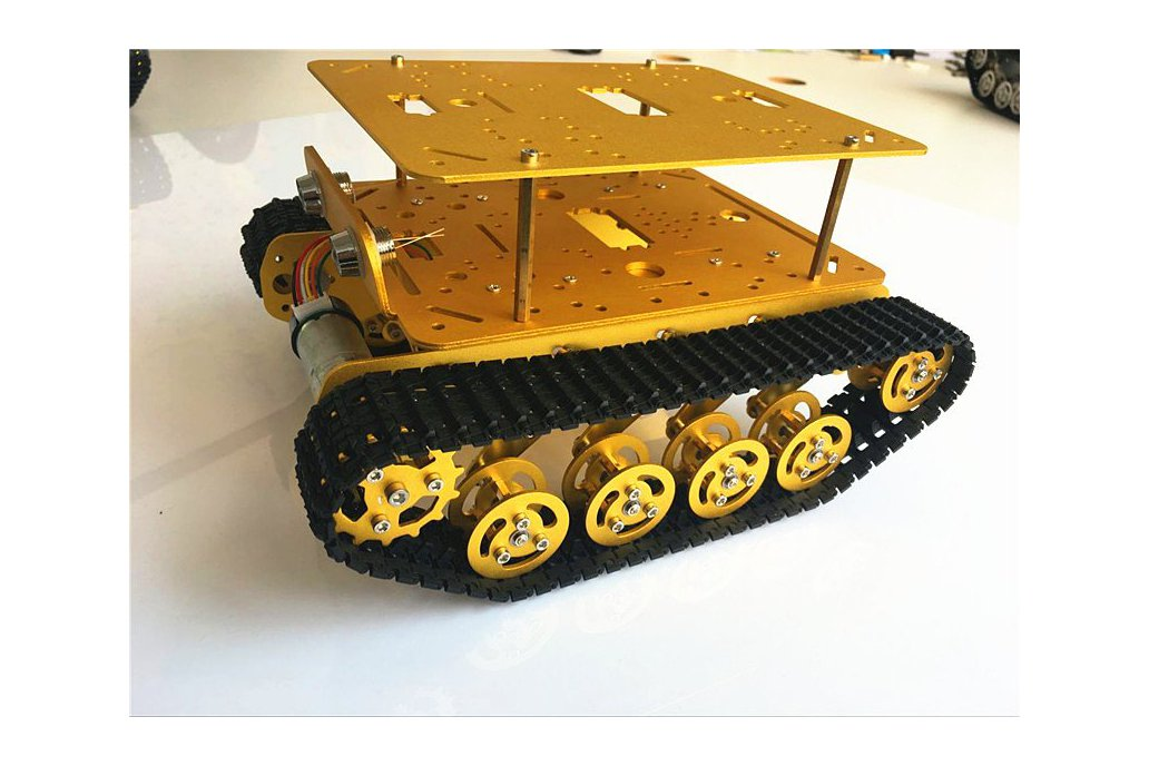 Double Panel Metal Shock Absorption Robot Tank Car 5