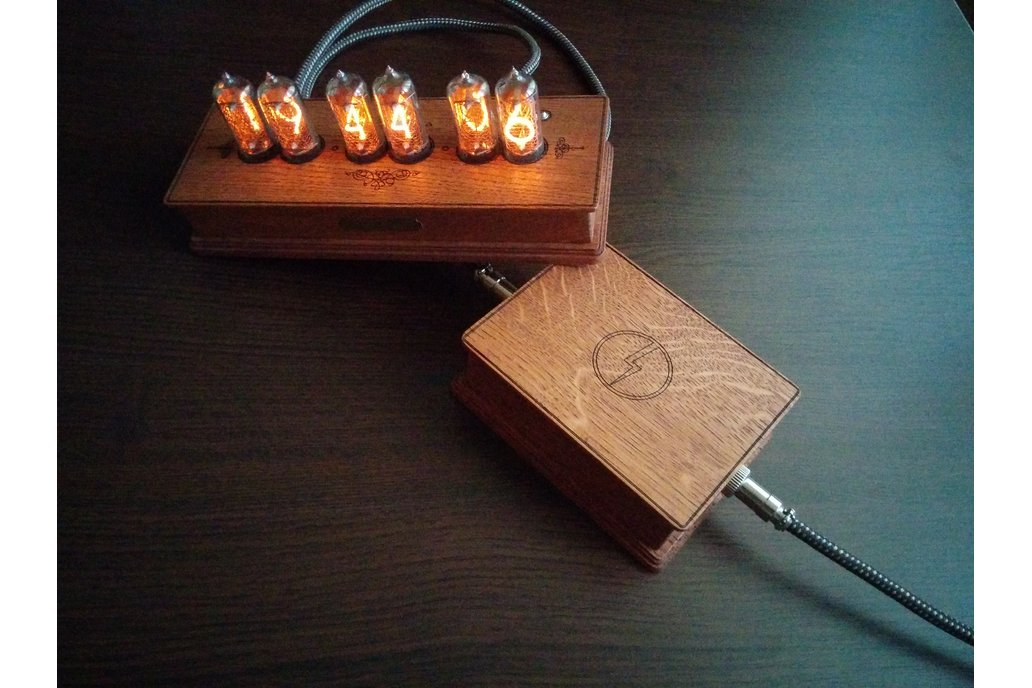 In-8-2 Steampunk Nixie Tube Clock+Power Supply Set 5