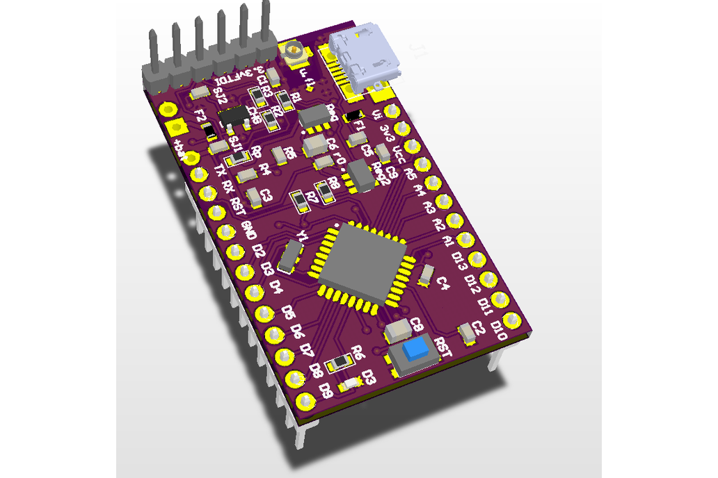 LoDuino - Low power Arduino with Lora radio u.fl 2