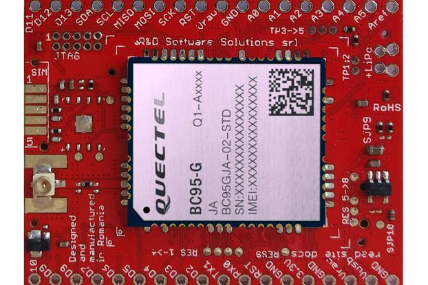 xyz-mIoT w. BC95G (ARM0 shield + NB-IOT modem)