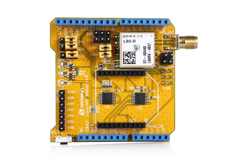 Lora/GPS shield for Arduino 4
