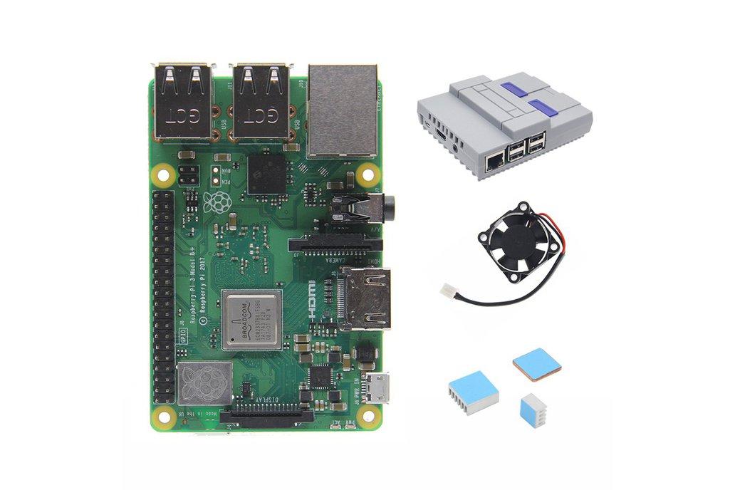 Kit 4 in 1 Raspberry Pi 3 Model B+(plus) Board 1