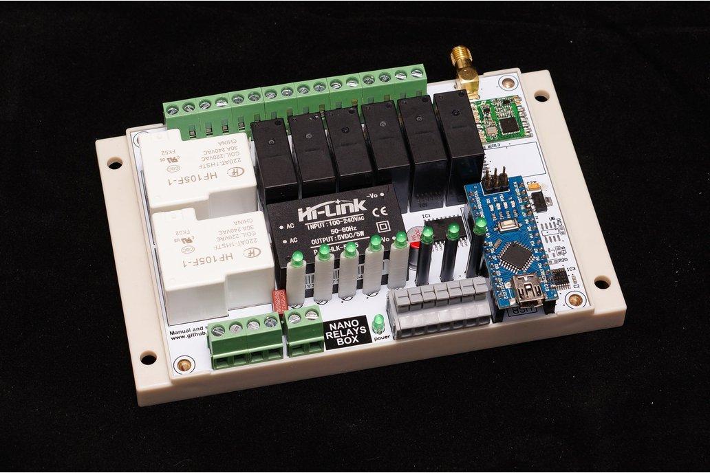 Arduino Nano 8 Relay Board wireless RFM69/95 NRF24 2