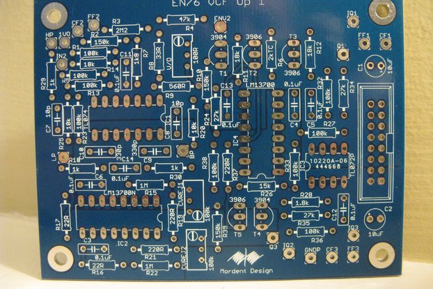 ENS-76 VCF-1 Eurorack PCB