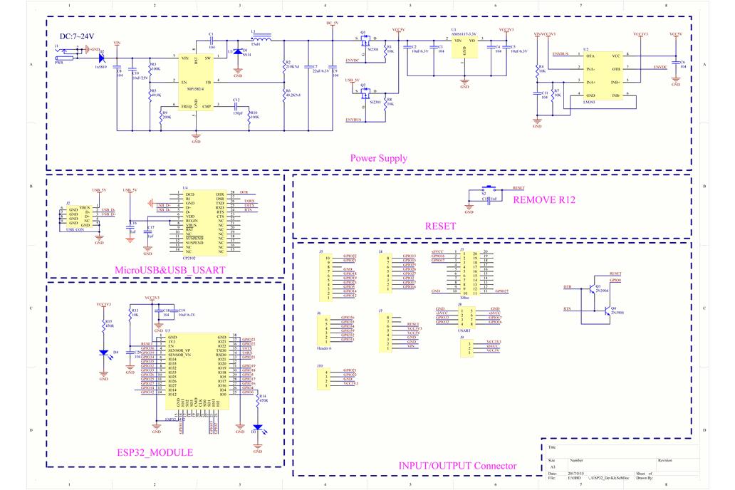 Freematics Esprit - ESP32 Arduino Dev Board