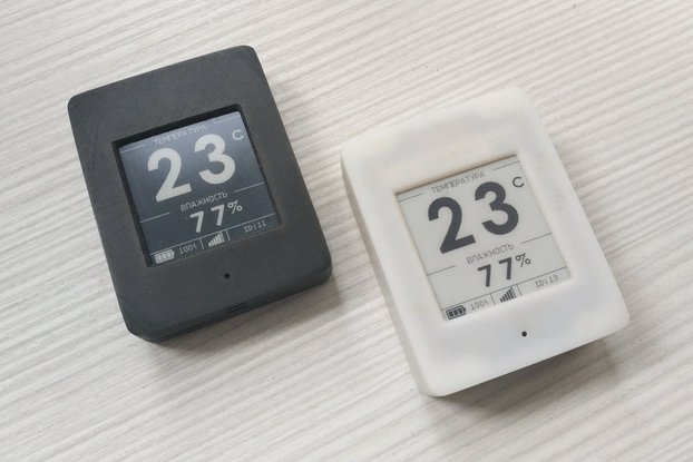 Temp and humid sensor with 1.54-inch e-ink display