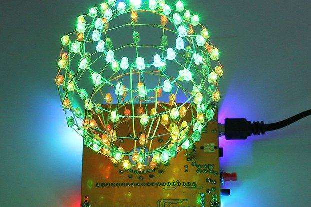 DIY Kit Colorful LED Cube Ball Light (13050)