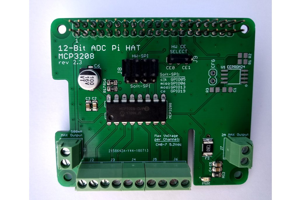 12-Bit/8-Channel ADC HAT for Raspberry Pi 1