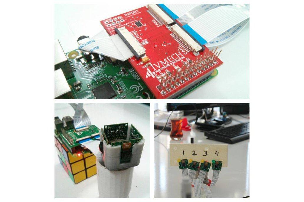 IVPort V2 Raspberry Pi Camera Multiplexer 2