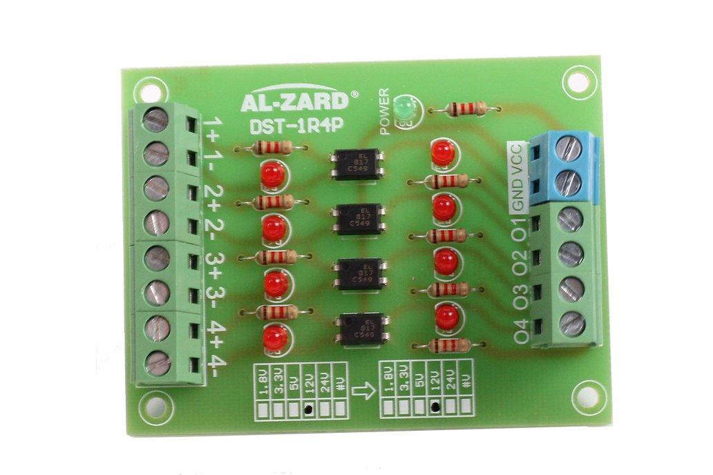 4Bit 24V to 3.3V Optocoupler Isolator Module(8041) 1