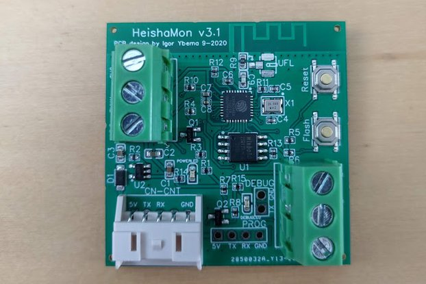 HeishaMon v3.1 communication PCB