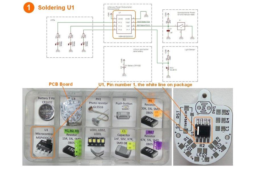 Light sensing smart LED flashlight KIT