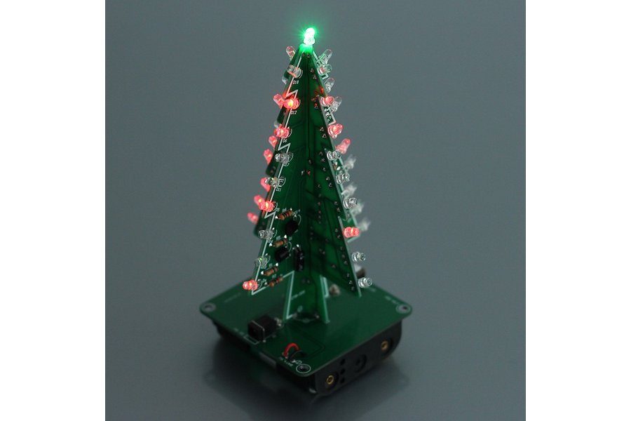 DIY 3D Xmas Tree 7 Color Flash LED Kits(7213)