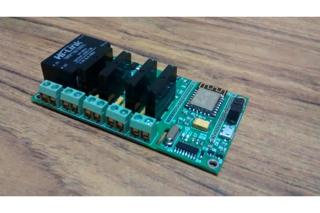 ESP8266 WiFi Quad SSR Board with 4 SSR for IOT 8