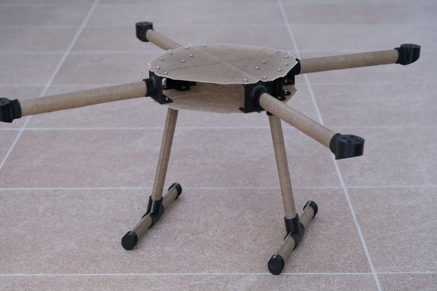 Natural Fiber Composite Drone Frame linen parts