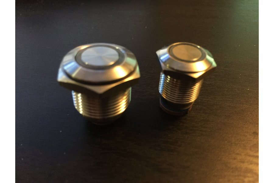 """12mm and 16mm Antivandal RGB """"Colorpixel"""" Buttons"""