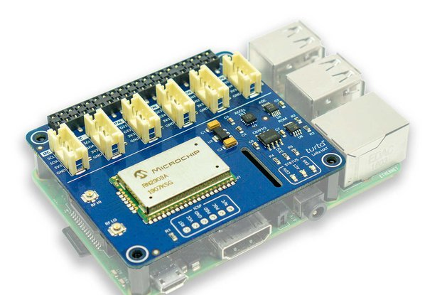 LoRa HAT for Raspberry Pi - US Version w/Antenna