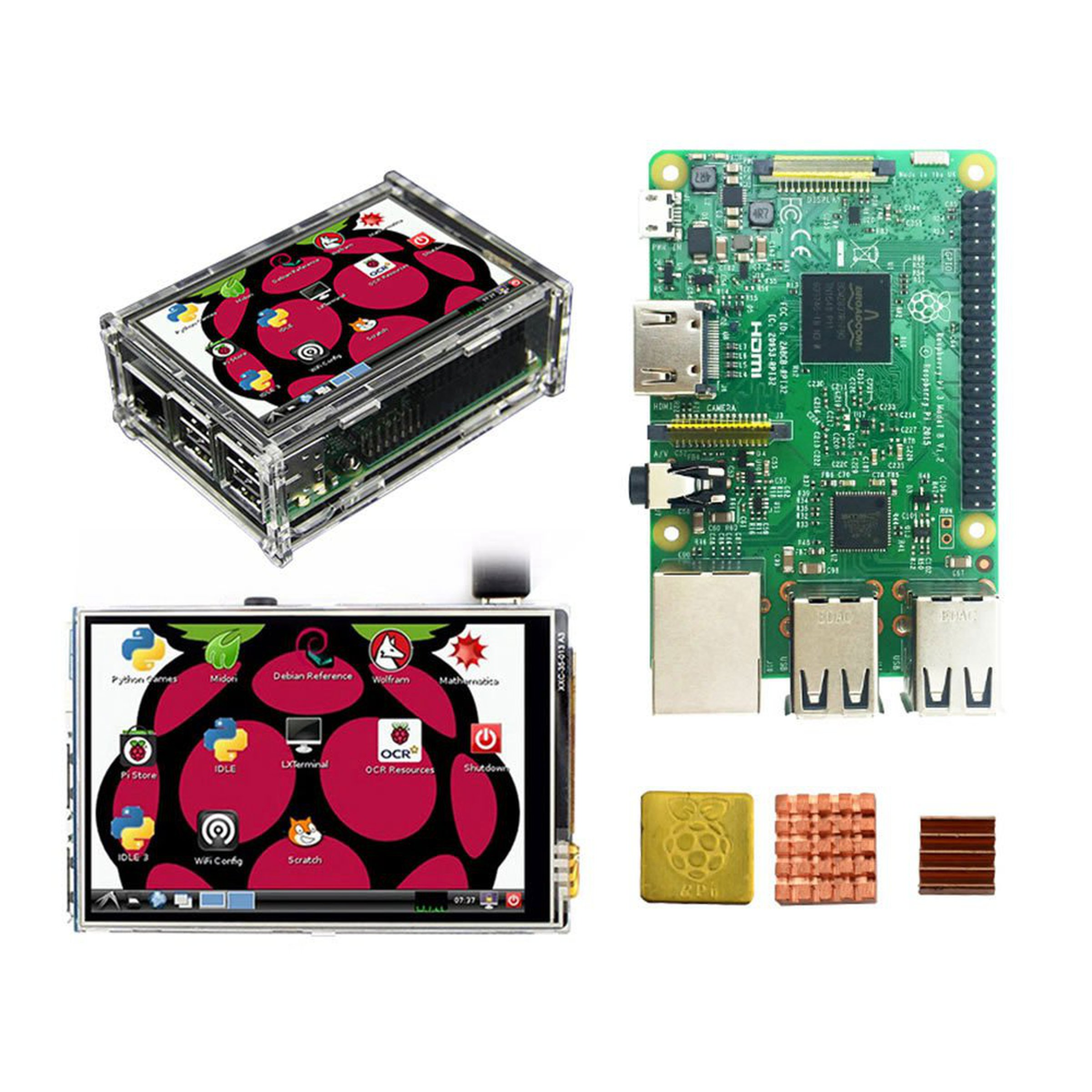 raspberry pi 3 model b board 3 5 in display from. Black Bedroom Furniture Sets. Home Design Ideas