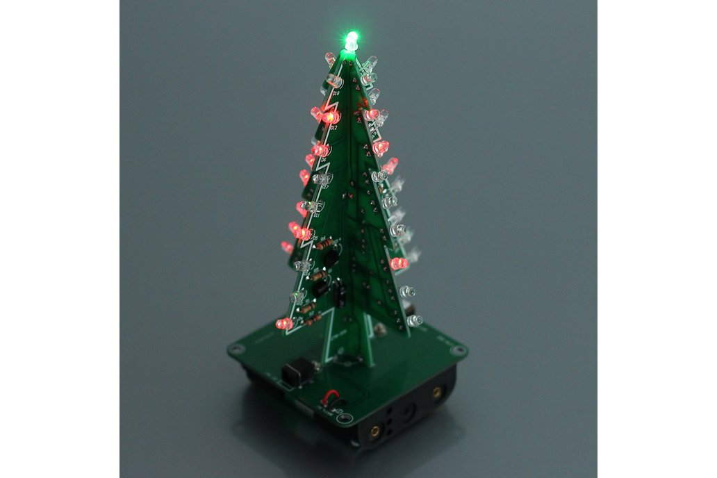 DIY 3D Xmas Tree 7 Color Flash LED Kits(7213) 2