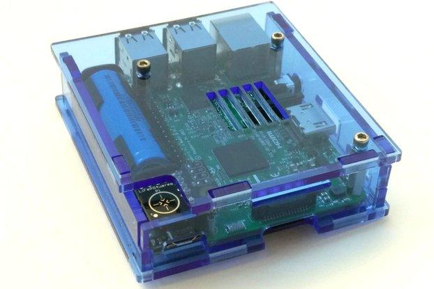 Enclosure for Raspberry Pi 3 and LiFePO4wered/Pi