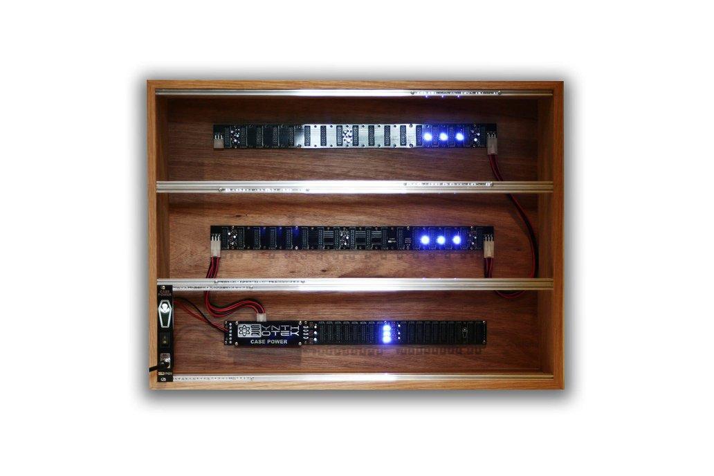 9U 104HP Powered Plywood Eurorack Modular Case 1