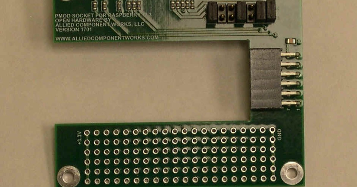 PMOD Adapter For Raspberry Pi by Allied Component Works on Tindie