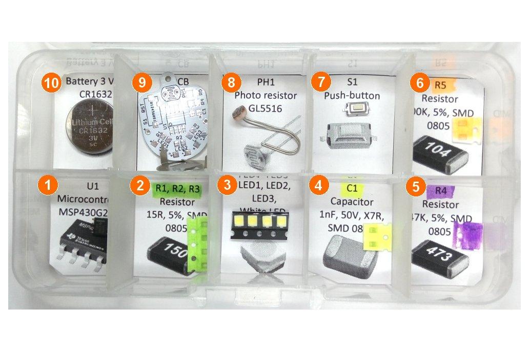 Light sensing smart LED flashlight KIT 2