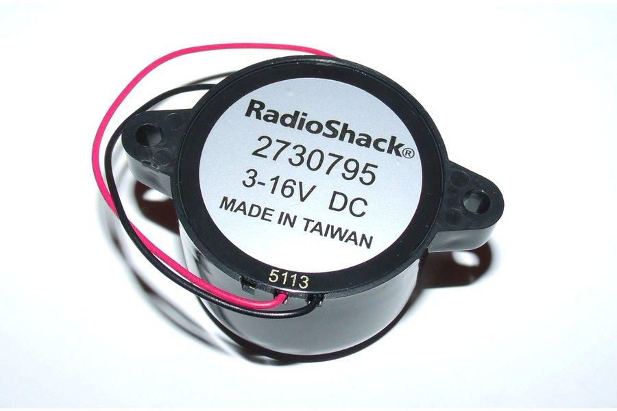 RADIOSHACK® 12VDC (3-16V) PIEZO BUZZER