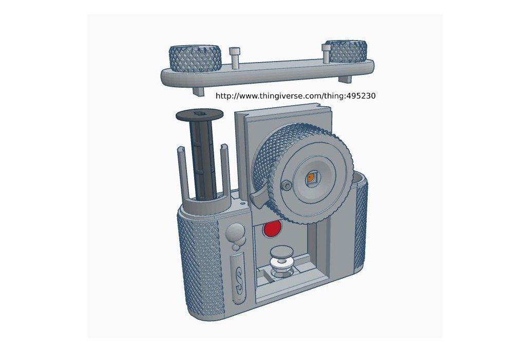 terraPin 3Dprinted Pinhole Camera (6X6 format)  8