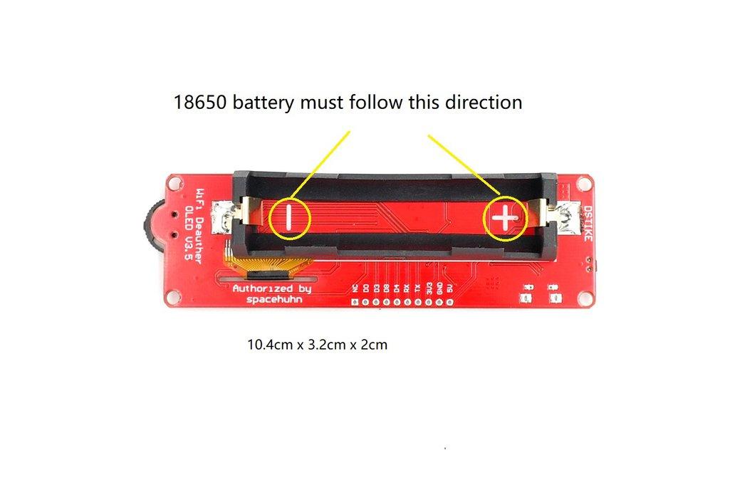 DSTIKE WiFi deauther OLED V3.5 (Added RGB LED) 2