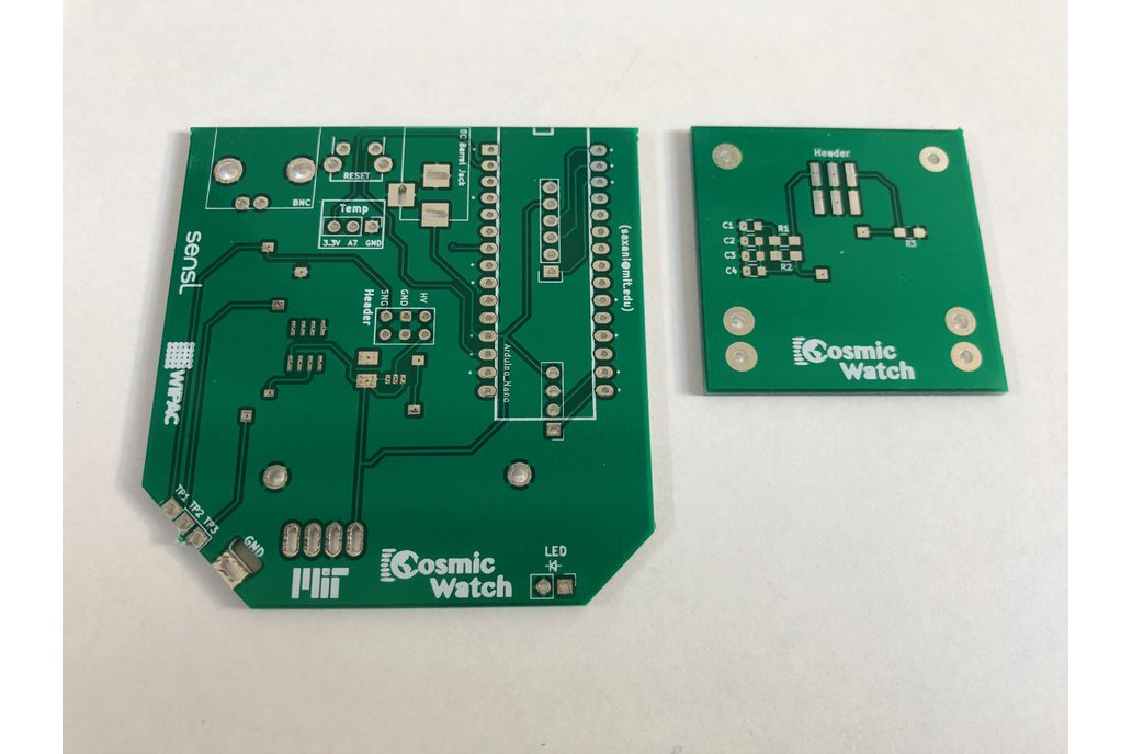 PCB for Cosmic Watch 1