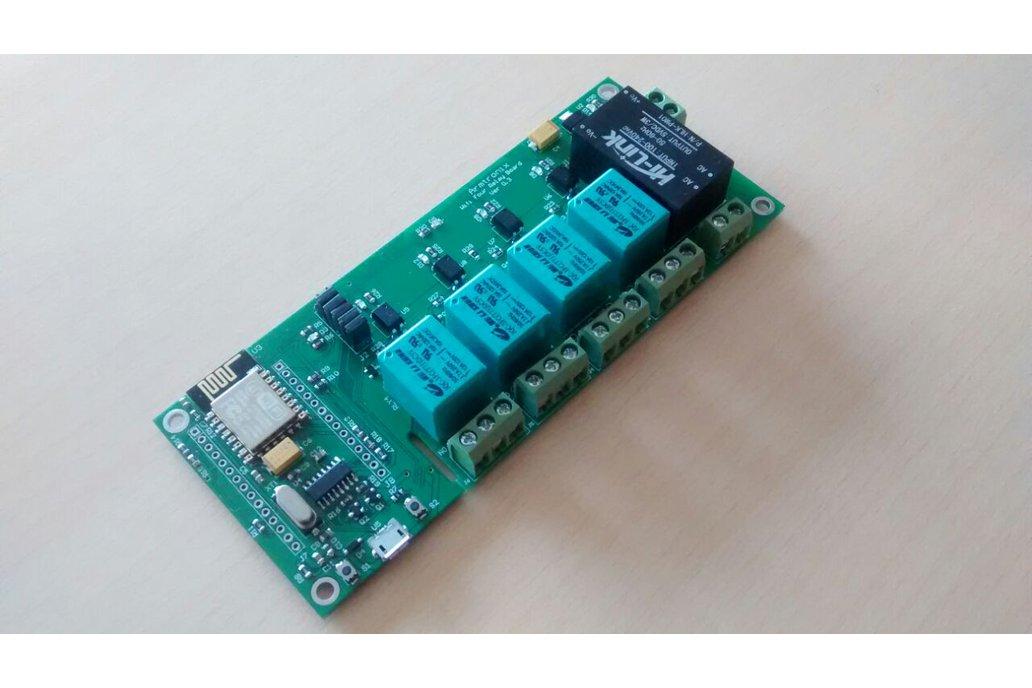 Node MCU ESP8266 WIFI board 4 Relay iot with case 1