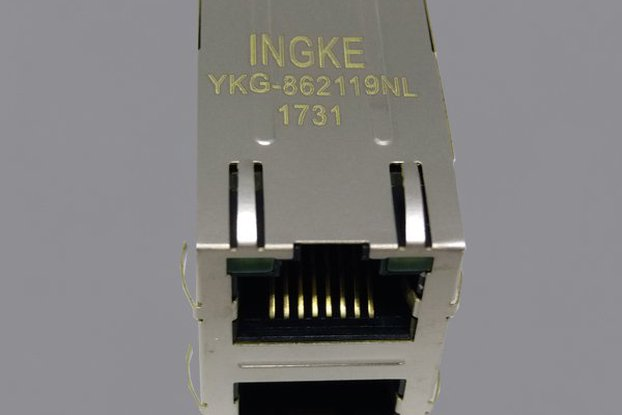 YKG-862119NL 2X1 Ports RJ45 Ethernet Connector