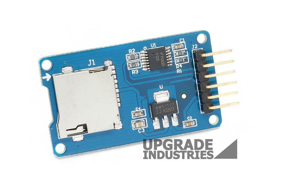 Micro SD Card Adapter with Voltage Regulator and Translator