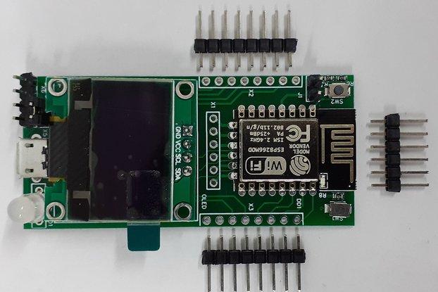 """ESP12.OLED - universal ESP8266+0.96""""OLED MCU board"""