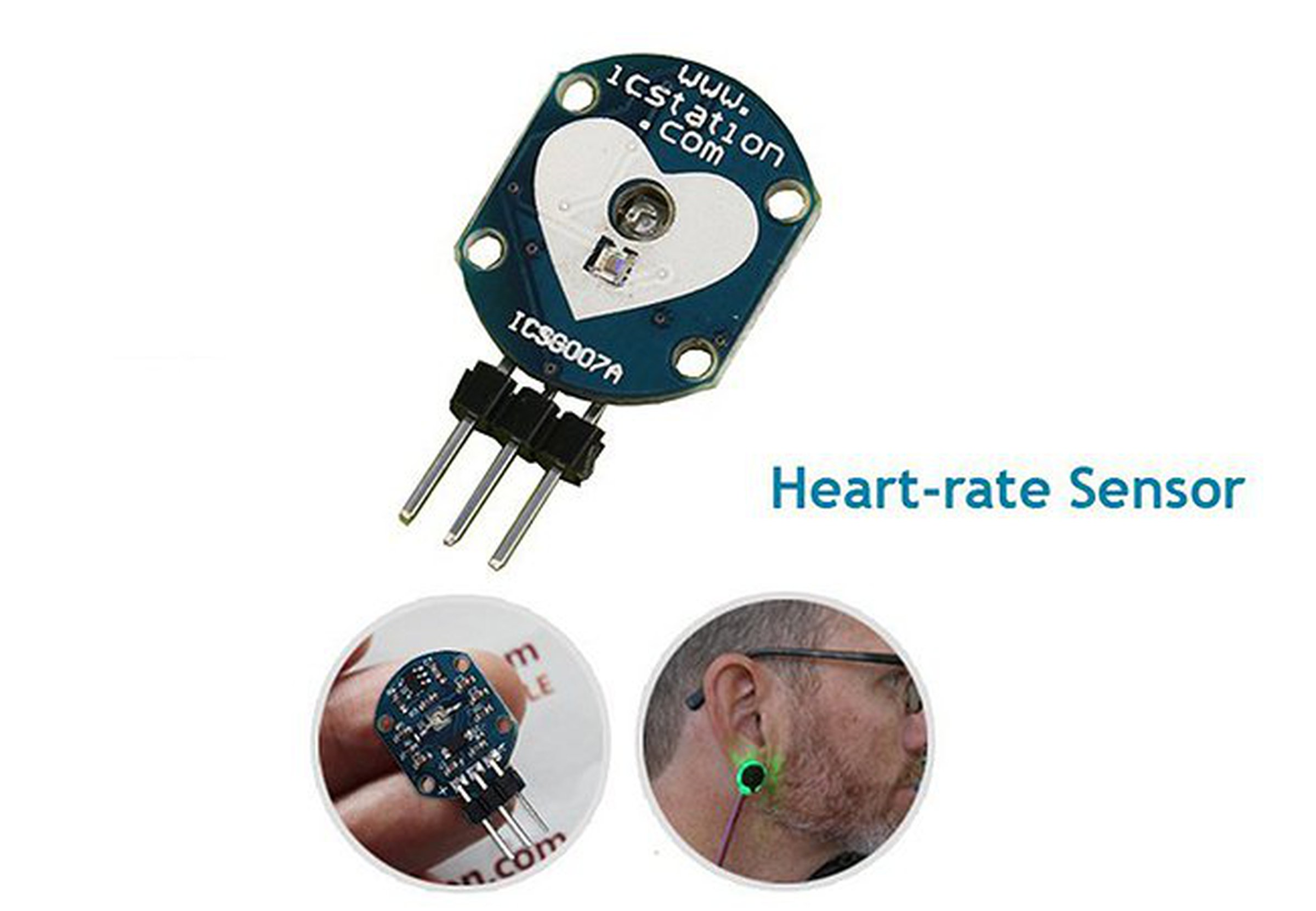 Pulse Heart Rate Sensor Module For Arduino3554 From Icstation On Monitor Alarm Circuit Homemade Projects 1
