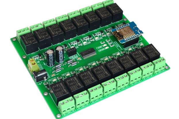 16 Channel WIFI I2C Electromagnetic Relay module