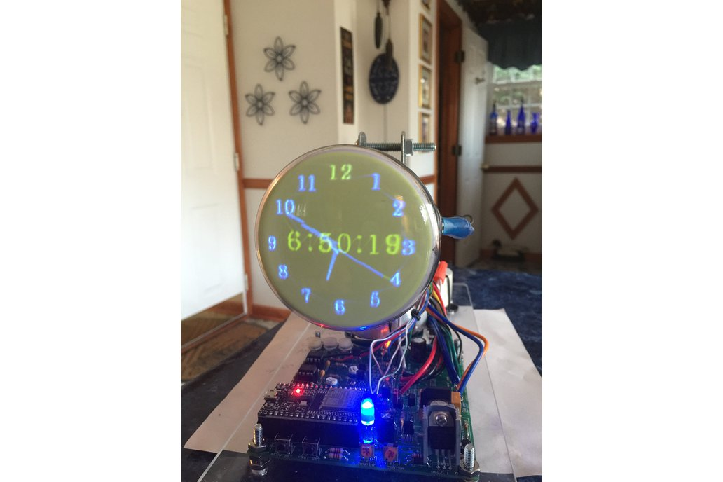 Oscilloscope Clock 3FP7 round Cathode Ray Tube 1