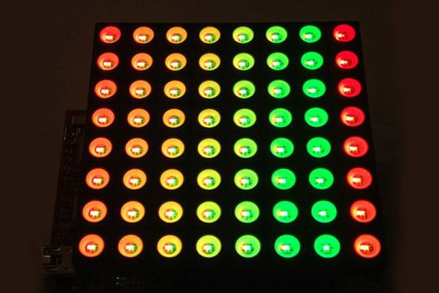 8x8 RGB Matrix Booster Pack PCB
